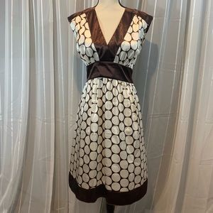 A. Byer summer dress. Brown and cream. Size 11